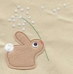Little Wish Bunny (Applique)_image