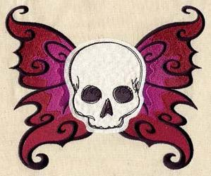 Winged Skull (Applique)_image