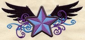 Rock Star with Wings (Applique)_image