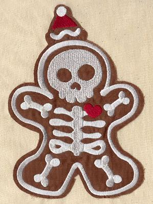 Gingerbread Skeleton (Applique)_image