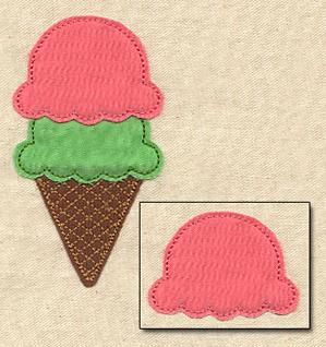 Extra Scoops (Applique)_image
