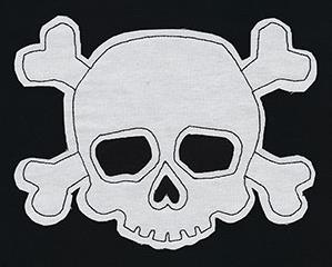 Simple Skull and Crossbones (Applique)_image