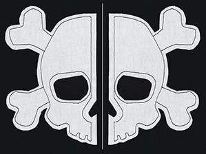 Simple Skull and Crossbones (Applique) (Split)_image
