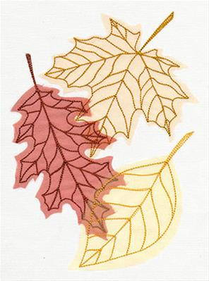 Diaphanous Autumn Leaves (Applique)_image