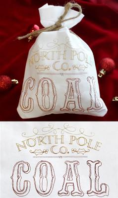 Wrapped Up - North Pole Coal Bag (In the Hoop)_image