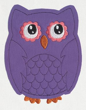 Noggin Nanimals - Owl (Applique)_image