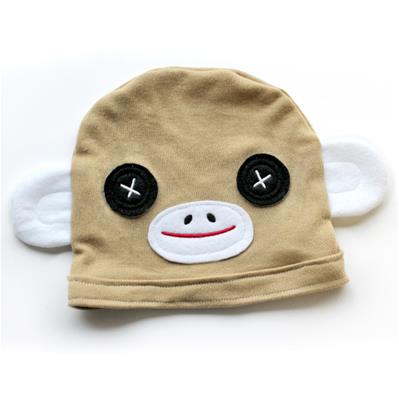Noggin Nanimals - Sock Monkey Face (Applique)_image