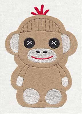 Noggin Nanimals - Sock Monkey (Applique)_image