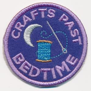Crafty Merit Badges - Crafts Past Bedtime (Patch)_image