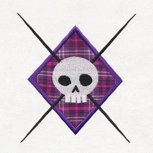 Argyle Skull (Applique)_image