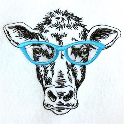 Cow Specs (Vinyl Applique)_image