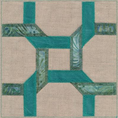 Celtic Twist Quilt Block (In-the-Hoop)_image