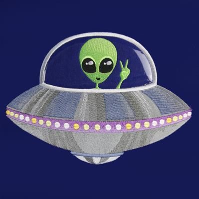 Greetings Earthling (Vinyl Applique)_image