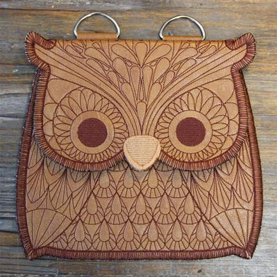 In a Stitch Owl Purse (In-the-Hoop)_image