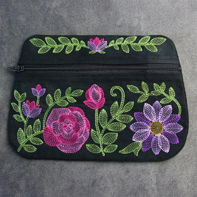 Floral Fashions Zipper Pouch (In-the-Hoop)_image