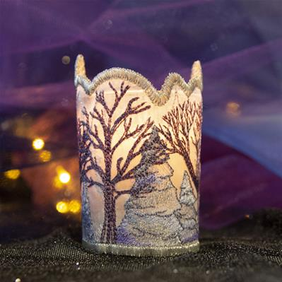 Frosted Winter Votive Wrap (Organza)_image