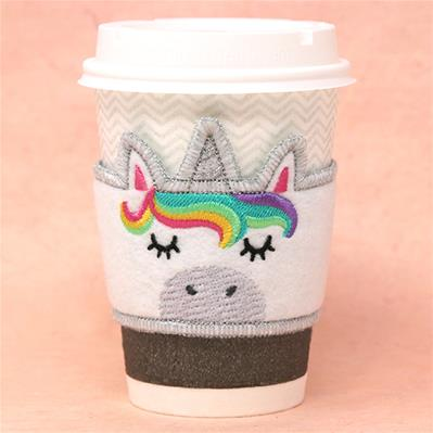 Unicorn Cup Cozy (In-the-Hoop)_image
