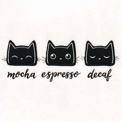 Coffee Cats (Applique)_image