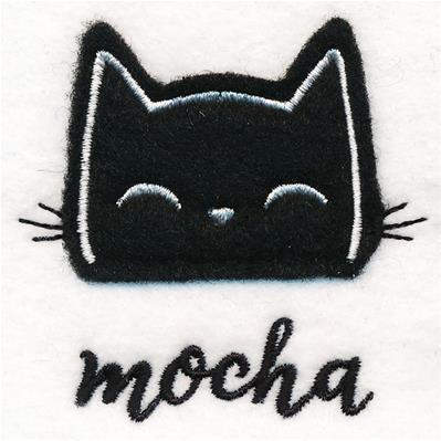 Coffee Cat - Mocha (Applique)_image