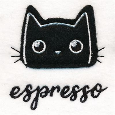 Coffee Cat - Espresso (Applique)_image