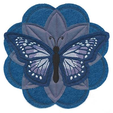 Butterfly and Blooms (Applique)_image
