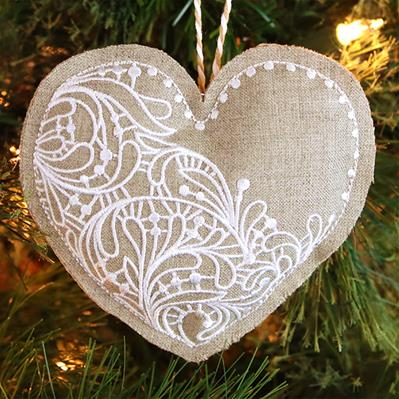 Rustic Heart Ornament (In-the-Hoop)_image